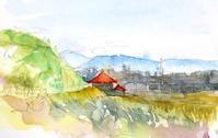 赤い屋根のお寺 - ryuuの手習い