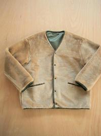 blurhmsReversible Boa Liner Jacket / Beige×Olive - 『Bumpkins putting on airs』