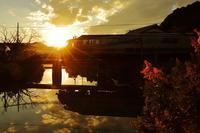 日没水鏡 - 今日も丹後鉄道