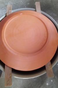 ■大皿の釉薬がけ■ - ちょこっと陶芸