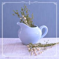 ◆フランスアンティーク*ぽってり可愛い♡ペールブルーのミルクポット - フランス雑貨とデコパージュ&ギフトラッピング教室 『meli-melo鎌倉』