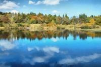 妙高高原いもり池の紅葉 2 - 光 塗人 の デジタル フォト グラフィック アート (DIGITAL PHOTOGRAPHIC ARTWORKS)