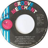 Carmen McRae ‎– It Takes A Whole Lot Of Human Feeling / Straighten Up And Fly Right - まわるよレコード ACE WAX COLLECTORS