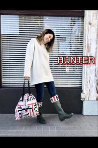 「HUNTER ハンター」ロゴチェルシーブーツ・折り畳み傘・ロゴバック入荷です。 - UNIQUE SECOND BLOG