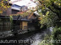 秋色に染まりはじめた京都、祇園あたり - serendipity blog