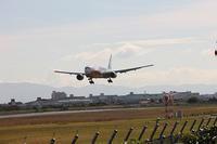 先日、伊丹空港でANA JA741Aの着陸を撮りました。 - 写真と画像 Illustrator&Photoshopで楽しんでます! ネイル画像!