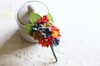 サンフェルト社さんからキットがリリースされています・フェルトで作るお花コサージュ~ロマンティックデイジー~ - フェルタート(R)・オフフープ(R)立体刺繍作家PieniSieniのブログ
