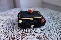 黒布の小物入れ - スペイン・バルセロナ・アンティーク gyu's shop