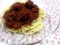 ☆肉団子入りミートソーススパゲッティー☆ - ガジャのねーさんの  空をみあげて☆ Hazle cucu ☆