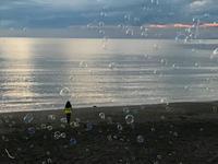 夕方のシャボン玉海岸。。。♪@館山 - なつお風味のポンだし♪