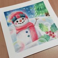 雪だるま - アトリエ絵くぼの創作日誌