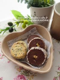 チョコサブレ&黒ごまクッキー - nanako*sweets-cafe♪