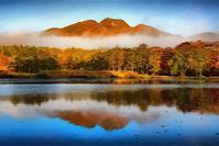 妙高高原いもり池の紅葉 4 - 光 塗人 の デジタル フォト グラフィック アート (DIGITAL PHOTOGRAPHIC ARTWORKS)