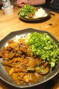 和風カレー〜ベジオンリー - 週末は晴れても、雨でも