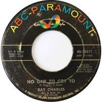 Ray Charles ‎– No One To Cry To / A Tear Fell - まわるよレコード ACE WAX COLLECTORS