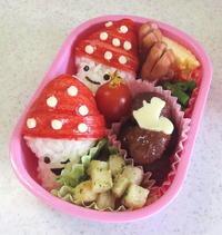 幼稚園弁当。きのこ(おにぎり) - ARTY NOEL