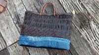 ボロ籠再生プロジェクトやっと完成 - 古布や麻の葉
