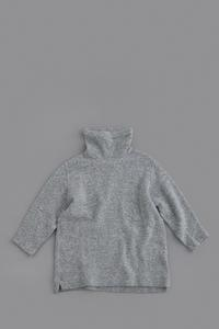 FIRMUM Middle Gauge Wool Quarter Knit High Neck (Grey Top) - un.regard.moderne