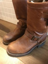 【Before/After】CHIPPEWAエンジニアブーツクリーニングBefore - Shoe Care & Shoe Order 「FANS.浅草本店」M.Mowbray Shop