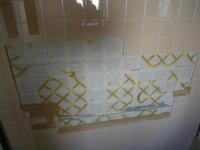 風呂場のタイル脱落修理 - カワセミ工房 鎌倉 (旧絵手紙いろは印)