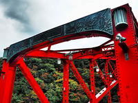 紅の峰谷橋 - 風の香に誘われて 風景のふぉと缶