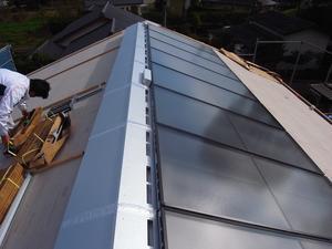 笠間の家ⅢOMソーラー工事-12018/11/7 - 新建工舎設計の家づくり