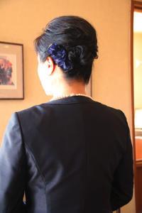 結婚式お呼ばれヘアヘアアレンジシンプルヘア大人髪型結婚式コーデさくら市美容室エスポワール - 美容室エスポワール