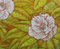油絵の具で着彩 - 絵と庭