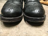コバの補色でこんなに変わる - シューケアマイスター靴磨き工房 銀座三越店