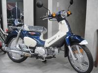 スポーツカブ・デニムブルー - バイクの横輪
