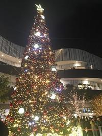 クリスマスイルミネーション点灯式 - 花追い人の絵手紙いろいろ♪