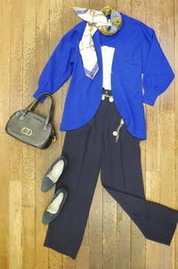 Coodinate blue cardigan - carboots