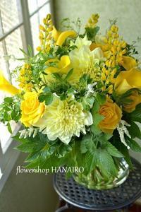 結婚記念日に贈るイエローmixの花束。 - 花色~あなたの好きなお花屋さんになりたい~