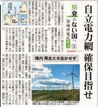 北電 全域停電に学ぶ 自立電力網確保目指せ稚内再生エネ生かせず/原発のない国へ2東京新聞 - 瀬戸の風
