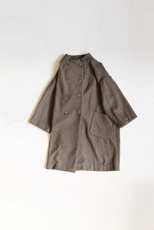 an896 WOOL MELTON ダブルビッグコート - an one