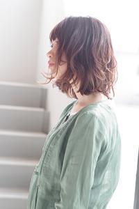 くせ毛が得意な美容室くせ毛を生かしながらのボブウェーブ - 空便り 髪にやさしいヘアサロン 髪にやさしいヘアカラー くせ毛を愛せる唯一のサロン