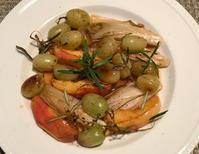 旬の果物を使って♪林檎と葡萄とエンダイブ&柿と鮪のセヴィチェ♪ - やせっぽちソプラノのキッチン2