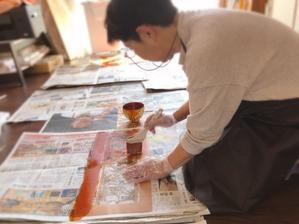 生徒さん完成作品と教室レポ - チリントゥの足の裏