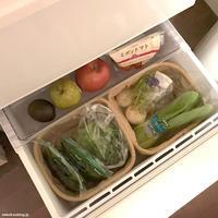 冷蔵庫収納・セリア100均グッズの麻袋で野菜室を整理 - 賃貸ネコ暮らし|賃貸住宅でネコを室内飼いする工夫