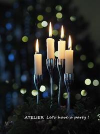クリスマスのテーブルコーディネート&おもてなし料理レッスンのご案内 - ATELIER Let's have a party ! (アトリエレッツハブアパーティー)         テーブルコーディネート&おもてなし料理教室