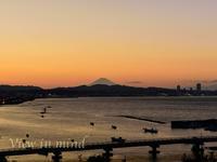 三浦半島からの富士山ー10月29日 - View in mind