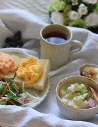 サンドイッチの朝ゴパン - ゆきなそう  猫とガーデニングの日記