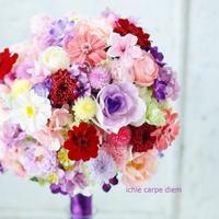 プリザーブドの和装ブーケ アニヴェルセル東京ベイ様へ 葉牡丹 - 一会 ウエディングの花