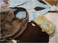 リネンの丸底バッグを作ってくれるなんて♪** - &m   handmade with linen,cotton...