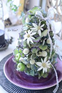 あじさいのトピアリー - Le vase*  diary 横浜元町の花教室