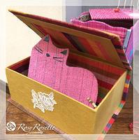 手織り生地とのコラボ♪〜生徒さんの作品 - Rosy Rosette カルトナージュ日記