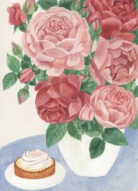 今日の絵「薔薇とレモンタルト」 - vogelhaus note