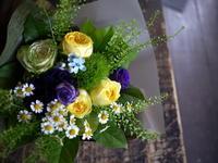 撮影のクランクアップの花束。平岸4条にお届け③。2018/11/06。 - 札幌 花屋 meLL flowers