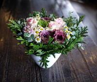 ご結婚記念日に奥様へのアレンジメント。2018/11/11。 - 札幌 花屋 meLL flowers