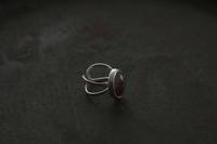 針水晶フリーリング - 石と銀の装身具